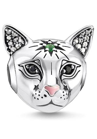 THOMAS SABO Bead »Katze silber, K0326-845-7«, mit Emaille, Glassteinen und Zirkonia kaufen