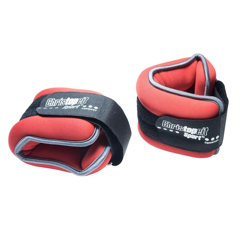Christopeit Sport® Gewichtsmanschette »Gewichtsmanschette 2 x 1,0 kg«, 2,0 kg, (Set, 2 tlg.)