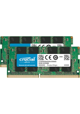 Crucial Laptop-Arbeitsspeicher »16GB Kit (2 x 8GB) DDR4-3200 SODIMM« kaufen