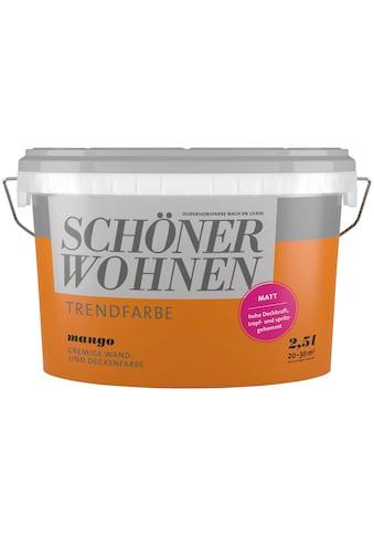 SCHÖNER WOHNEN-Kollektion Wand- und Deckenfarbe »Trendfarbe Mango, matt«, 2,5 l kaufen