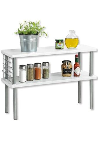 KESPER for kitchen & home Ablageregal, mit 2 Ablageböden in Farbe weiß kaufen