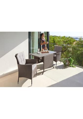 KONIFERA Gartenmöbelset »Mailand«, 7 - tlg., 2 Sessel, Tisch 112x65 cm, Polyrattan kaufen