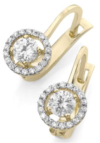 Firetti Paar Ohrhänger »Rund«, mit Zirkonia kaufen