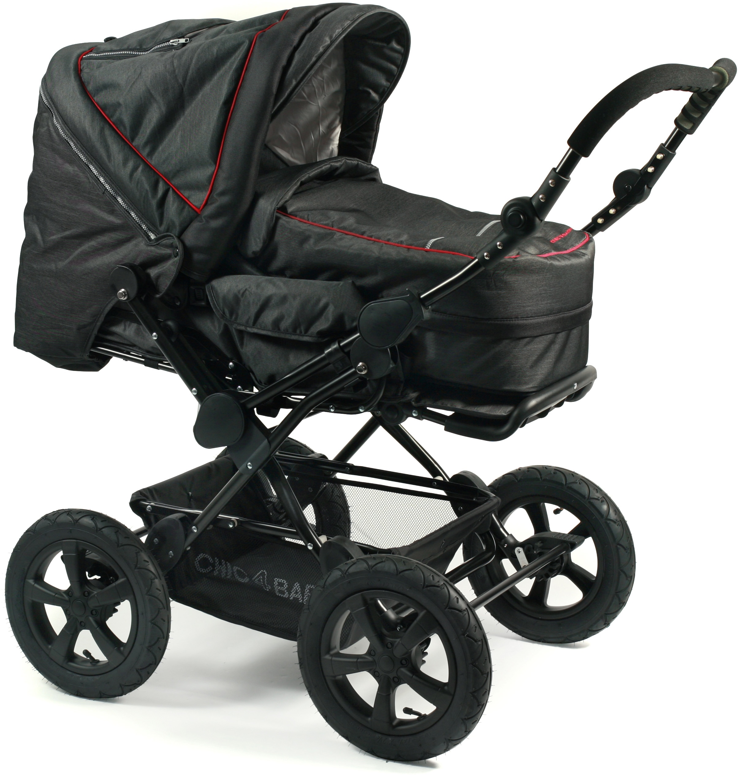 rabatt chic 4 baby kombi kinderwagen viva jeans black schwarz. Black Bedroom Furniture Sets. Home Design Ideas