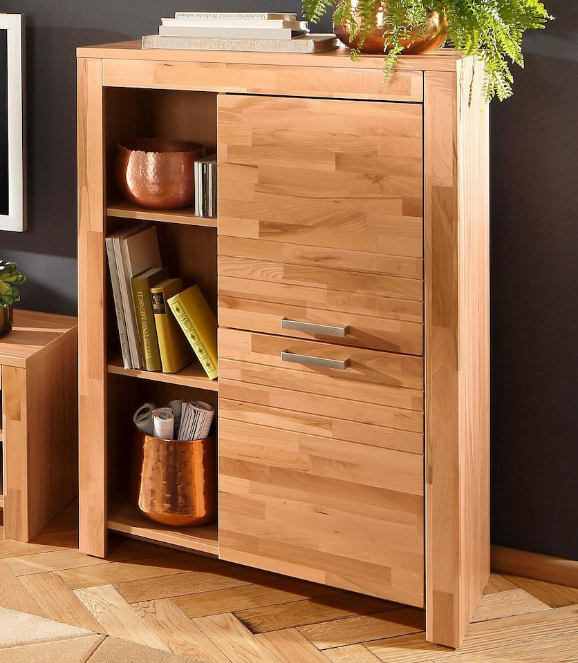 home affaire highboard livigno breite 84 cm auf. Black Bedroom Furniture Sets. Home Design Ideas