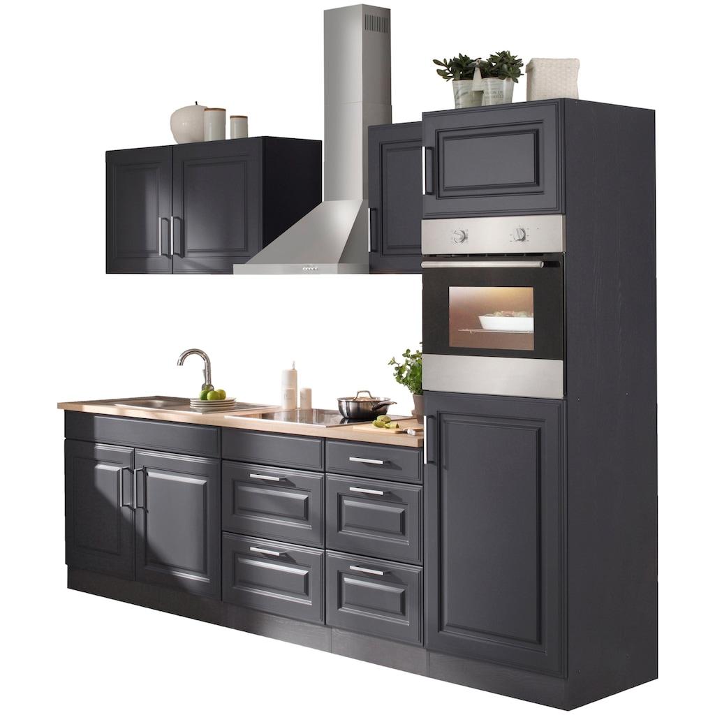 HELD MÖBEL Küchenzeile »Stockholm«, mit E-Geräten, Breite 270 cm, wahlweise mit Induktionskochfeld