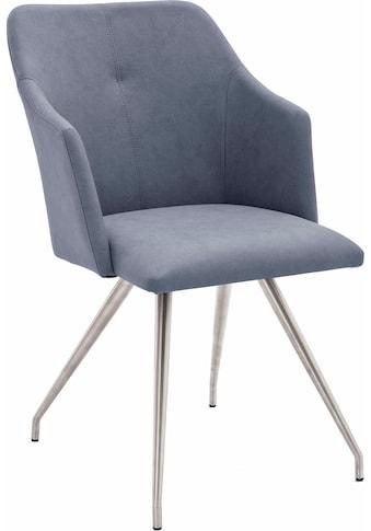 MCA furniture Esszimmerstuhl »Madita 4 Fuß Stuhl B-eckig«, 2er-Set, Stuhl belastbar bis max. 140 kg kaufen