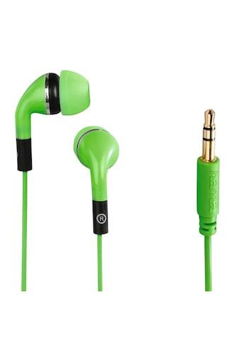 """Hama In - Ear - Stereo - Ohrhörer """"Flip"""", Grün »Kopfhörer« kaufen"""