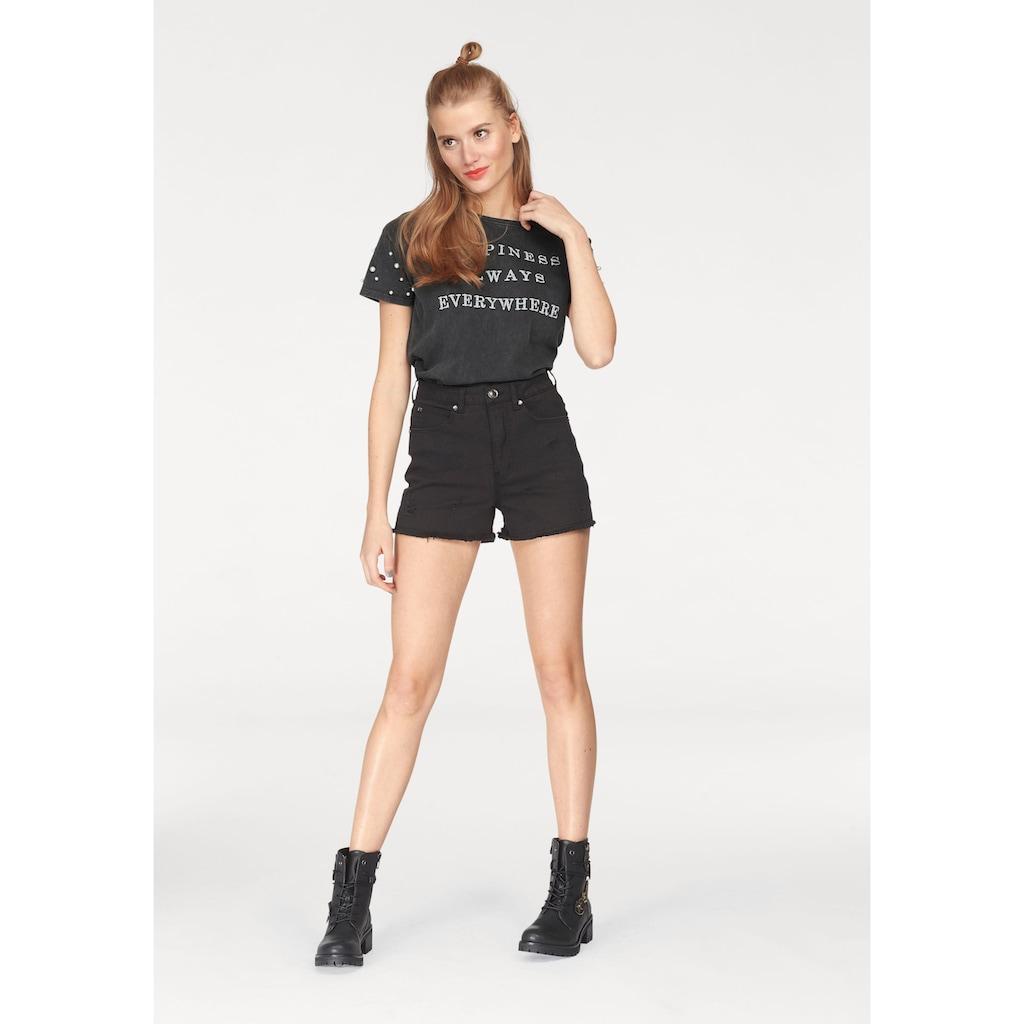 AJC Shorts, aus Jeansqualität mit Destroyed Effekten