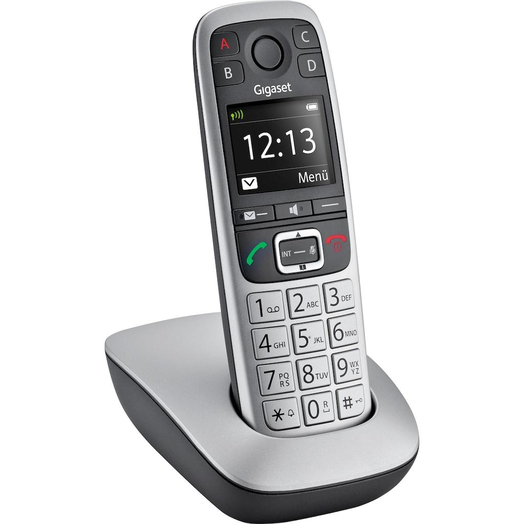 Gigaset Schnurloses DECT-Telefon »E560«, (Mobilteile: 1 ), Weckfunktion, Freisprechen