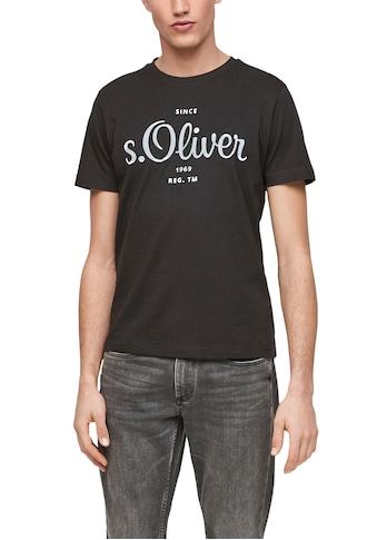 s.Oliver T-Shirt, mit markantem Logo-Print kaufen