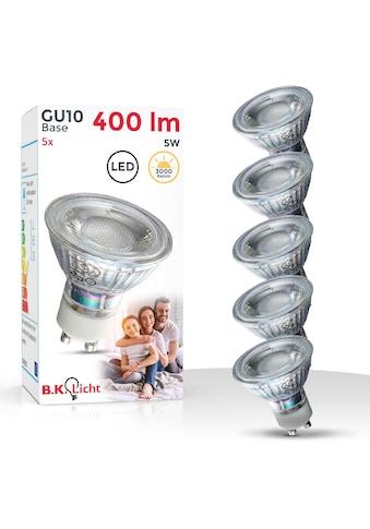 B.K.Licht LED-Leuchtmittel, GU10, 5 St., Warmweiß, LED Lampe Glüh-Birne Reflektor-Form 5W 400 Lumen 3000K warmweiss kaufen