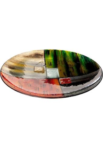 GILDE GLAS art Dekoschale »Mirano 1«, handbemalt mit Fusingglas-Elementen kaufen