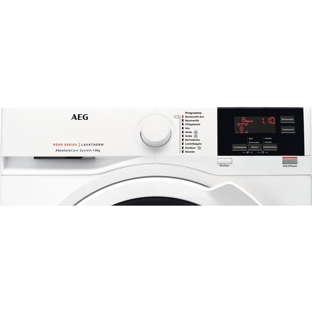 AEG Wärmepumpentrockner »T8DB67580«