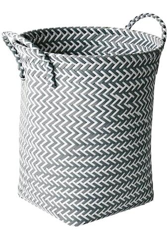 MSV Wäschekorb grau und weiiß, 35 x 35 x 45 cm kaufen