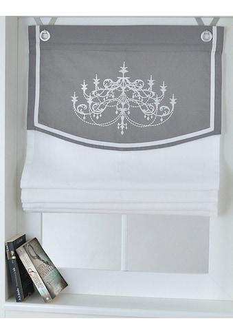 Kutti Raffrollo »Orleans«, mit Hakenaufhängung, ohne Bohren, freihängend, mit Ösen, incl. Fensterhaken kaufen