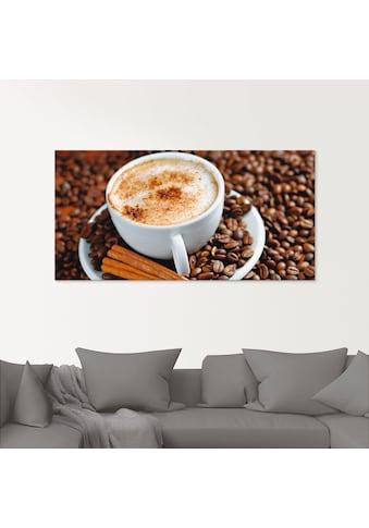 Artland Glasbild »Cappuccino - Kaffee«, Getränke, (1 St.) kaufen