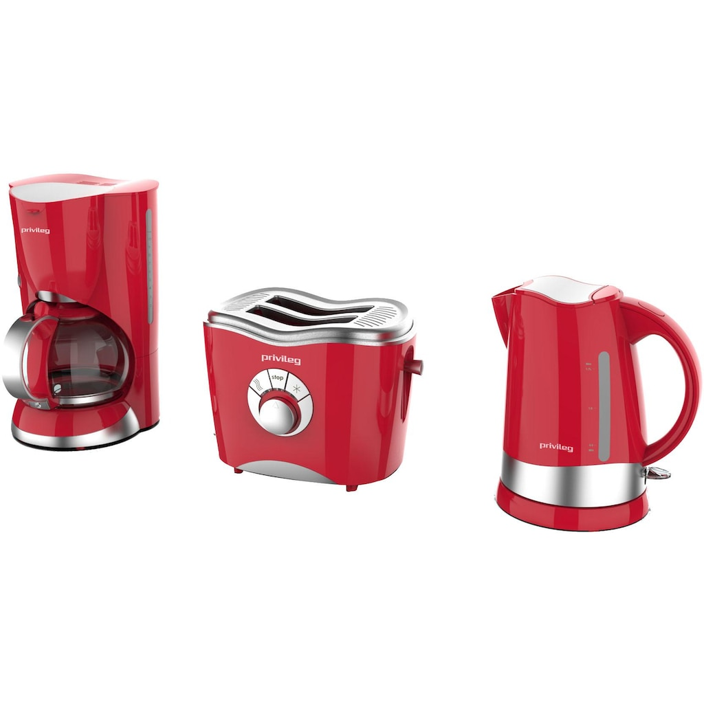 Privileg Toaster »747566«, 2 kurze Schlitze, für 2 Scheiben, 860 W, rot