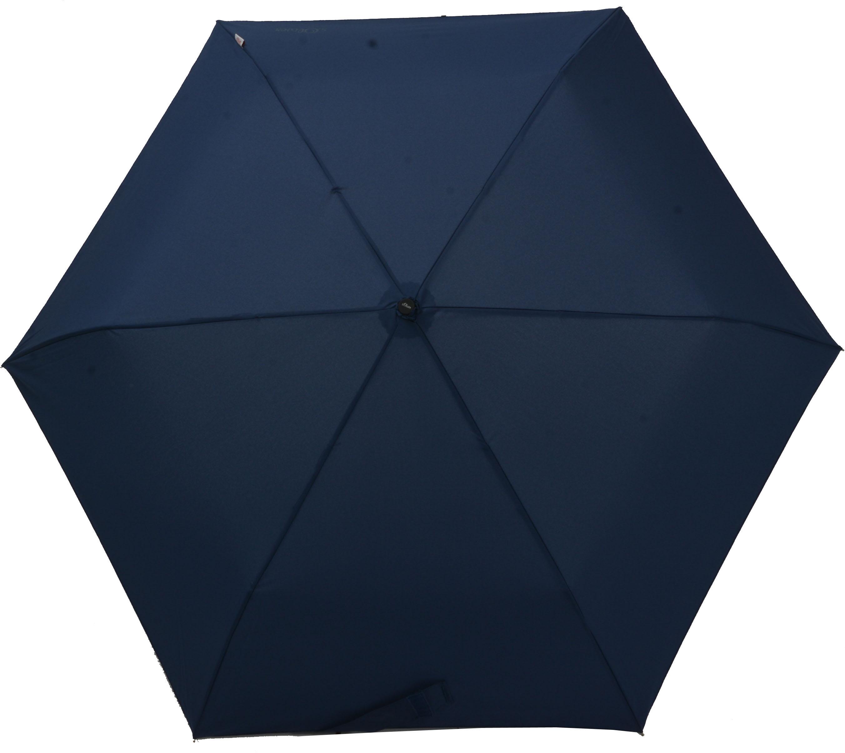 s.Oliver Regenschirm, »Taschenschirm Duopop marine« | Accessoires > Regenschirme | Mehrfarbig | Polyester | S.OLIVER