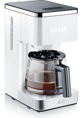 Graef Filterkaffeemaschine »FK 401«, Papierfilter, 1x4, mit Glaskanne, weiß kaufen