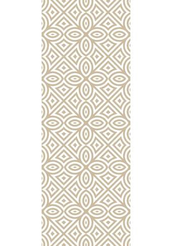 QUEENCE Vinyltapete »Muster - Beige«, 90 x 250 cm, selbstklebend kaufen
