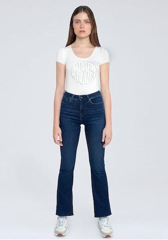 Pepe Jeans Bootcut-Jeans »DION FLARE«, mit hohem Bund, Stretch-Anteil und in 7/8-Länge kaufen