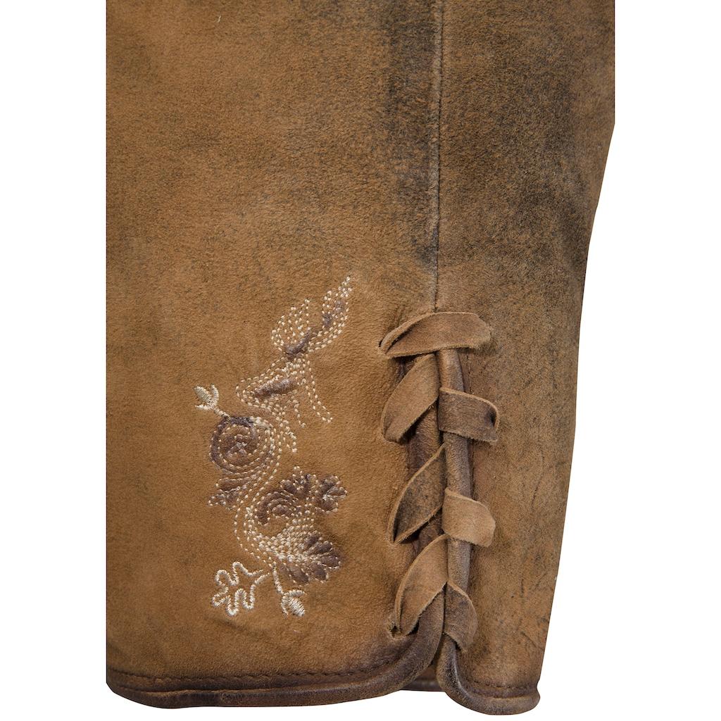 Stockerpoint Trachtenlederhose, mit Stickerei