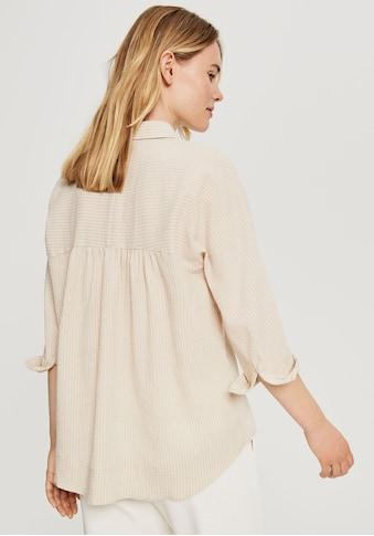 OPUS Langarmbluse »Frona«, mit Streifenprint und verdeckter Knopfleiste kaufen