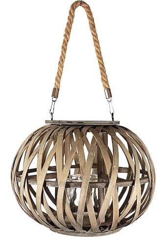 Franz Müller Flechtwaren Windlicht, mit Glaseinsatz, gerfertigt aus Holz, Rattan und... kaufen