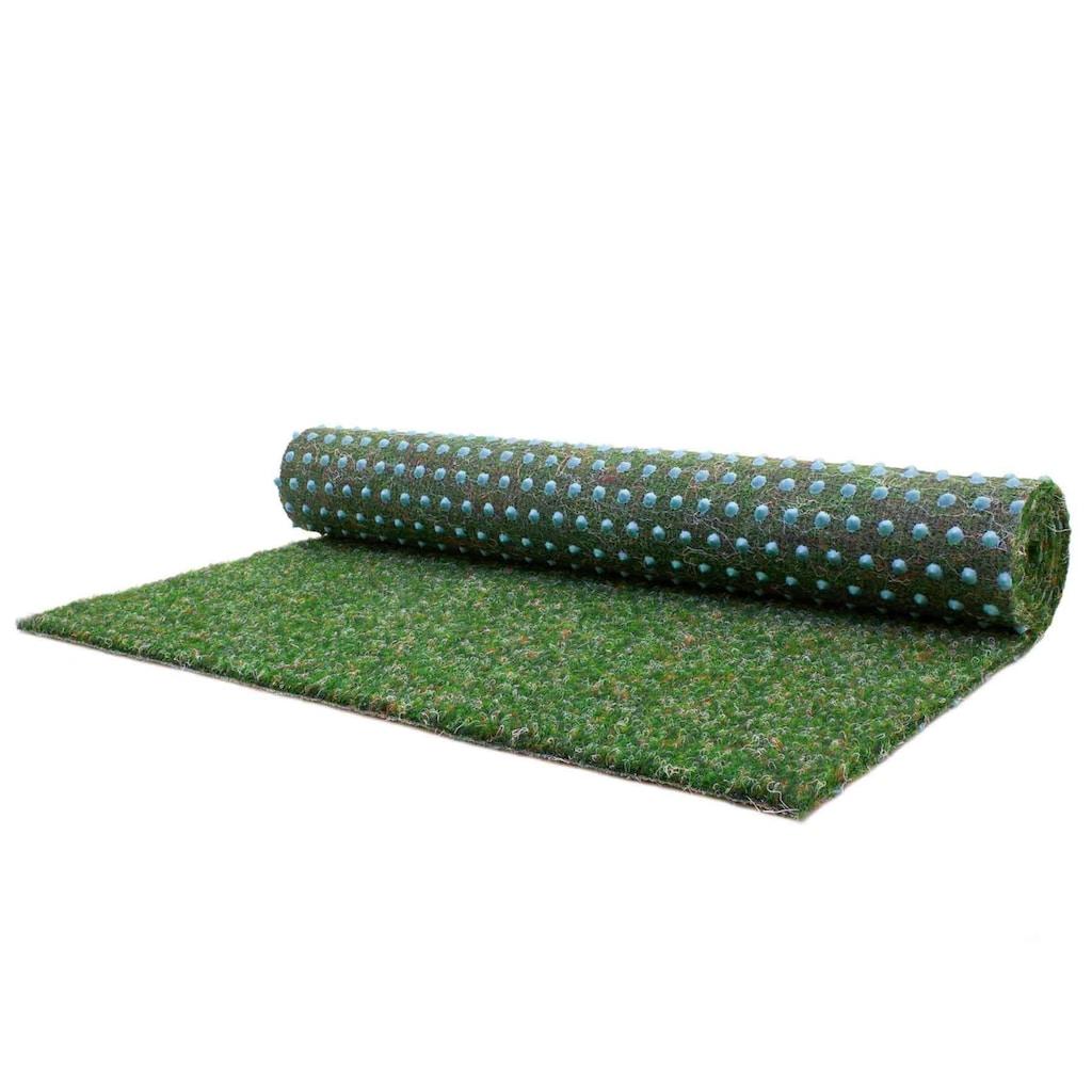 Primaflor-Ideen in Textil Kunstrasen »GREEN«, rechteckig, 7,5 mm Höhe, Rasenteppich, grün, mit Noppen, strapazierfähig, witterungsbeständig, In- und Outdoor geeignet