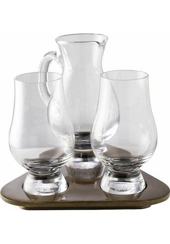 Stölzle Whiskyglas »Glencairn Glass«, (Set, 3 tlg.), 2 Gläser, 1 Krug auf Tablett kaufen