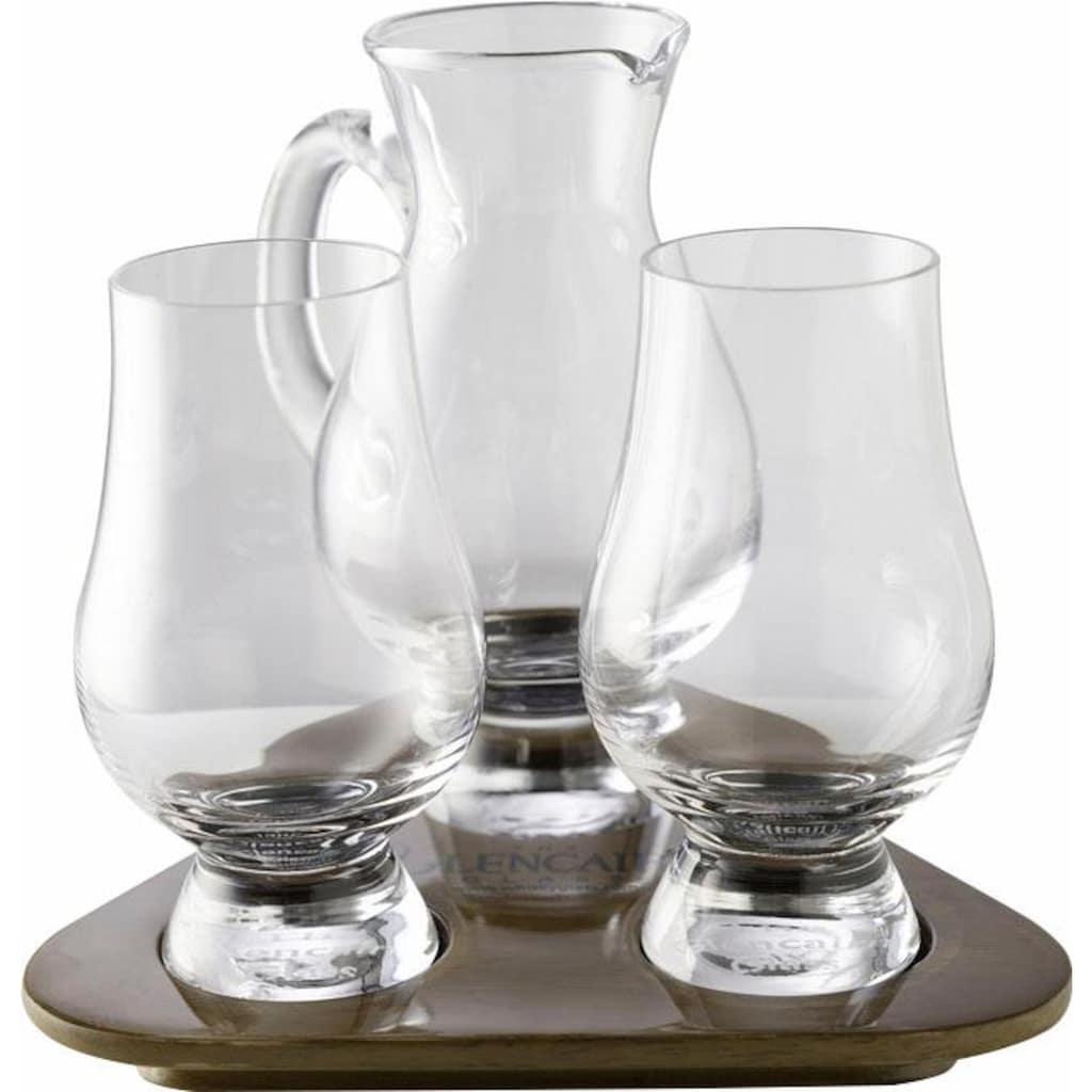 Stölzle Whiskyglas »Glencairn Glass«, (Set, 3 tlg.), 2 Gläser, 1 Krug auf Tablett