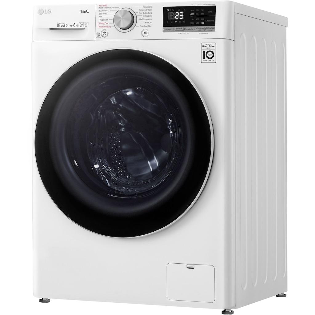 LG Waschmaschine »F4WV408S0«, F4WV408S0, 8 kg, 1400 U/min