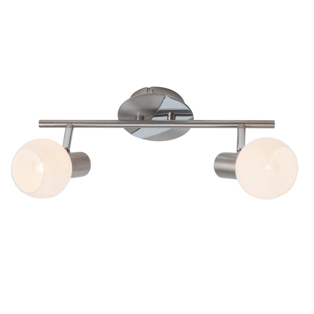 Brilliant Leuchten Deckenleuchten, E14, Tiara Spotrohr 2flg eisen/weiß