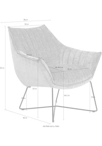 furninova Loungesessel »Egon Quilt«, bequemer Loungesessel mit attraktiven... kaufen