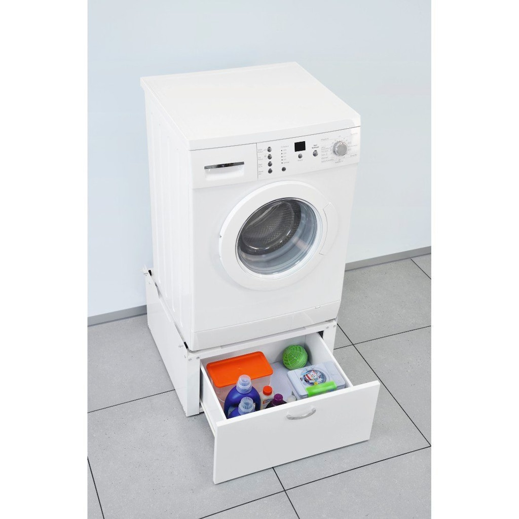 Xavax Standplattform »mit Schublade, 61 x 60 cm«, für Waschmaschinen und Trockner