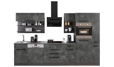 HELD MÖBEL Küchenzeile »Tulsa«, ohne E-Geräte, Breite 320 cm, schwarze Metallgriffe,... kaufen