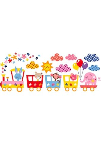 Wandtattoo »Lustige Tiere im Zug« kaufen