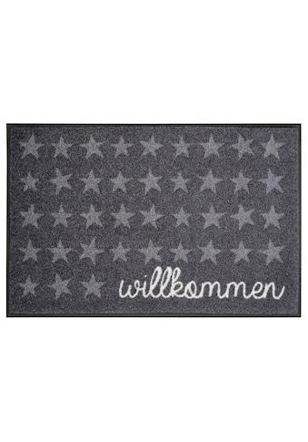 Fußmatte, »Willkommen Sterne«, wash+dry by Kleen - Tex, rechteckig, Höhe 7 mm, gedruckt kaufen