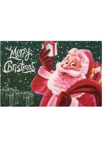 Home affaire Fußmatte »Merry Christmas«, rechteckig, 6 mm Höhe, Schmutzmatte, In- und... kaufen