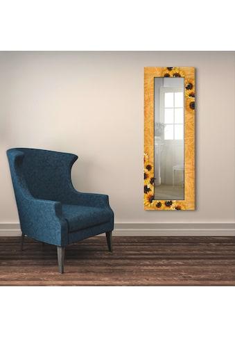 Artland Wandspiegel »Sonnenblumen«, gerahmter Ganzkörperspiegel mit Motivrahmen,... kaufen