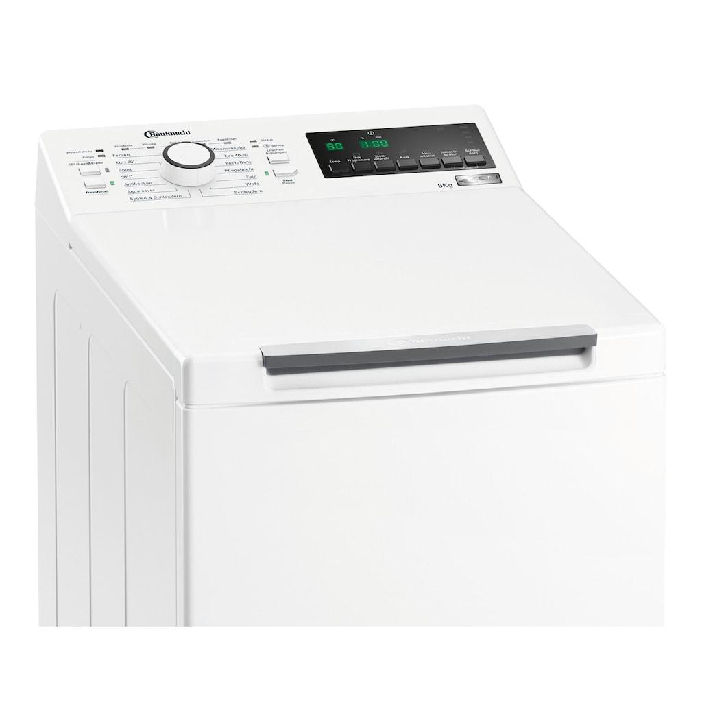 BAUKNECHT Waschmaschine Toplader »WMT ECOSTAR 6Z BW N«, WMT EcoStar 6Z BW N
