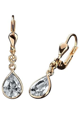 Firetti Paar Ohrhänger »Tropfen, elegant, Gelbgold« kaufen