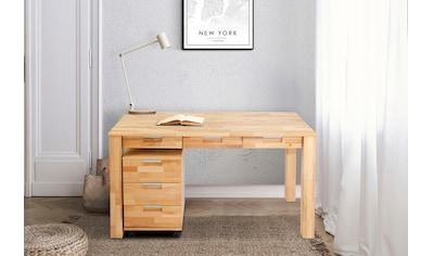 Home affaire Schreibtisch »Robi«, aus massiv geölter Buche, keilverzinkte... kaufen