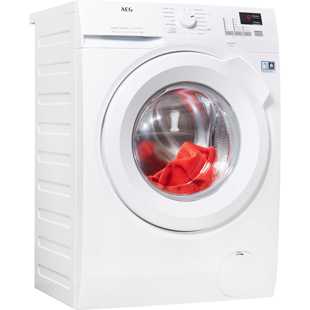 AEG Waschmaschine »L6FBA484«, L6FBA484, ProSense - Intelligente Beladungserkennung