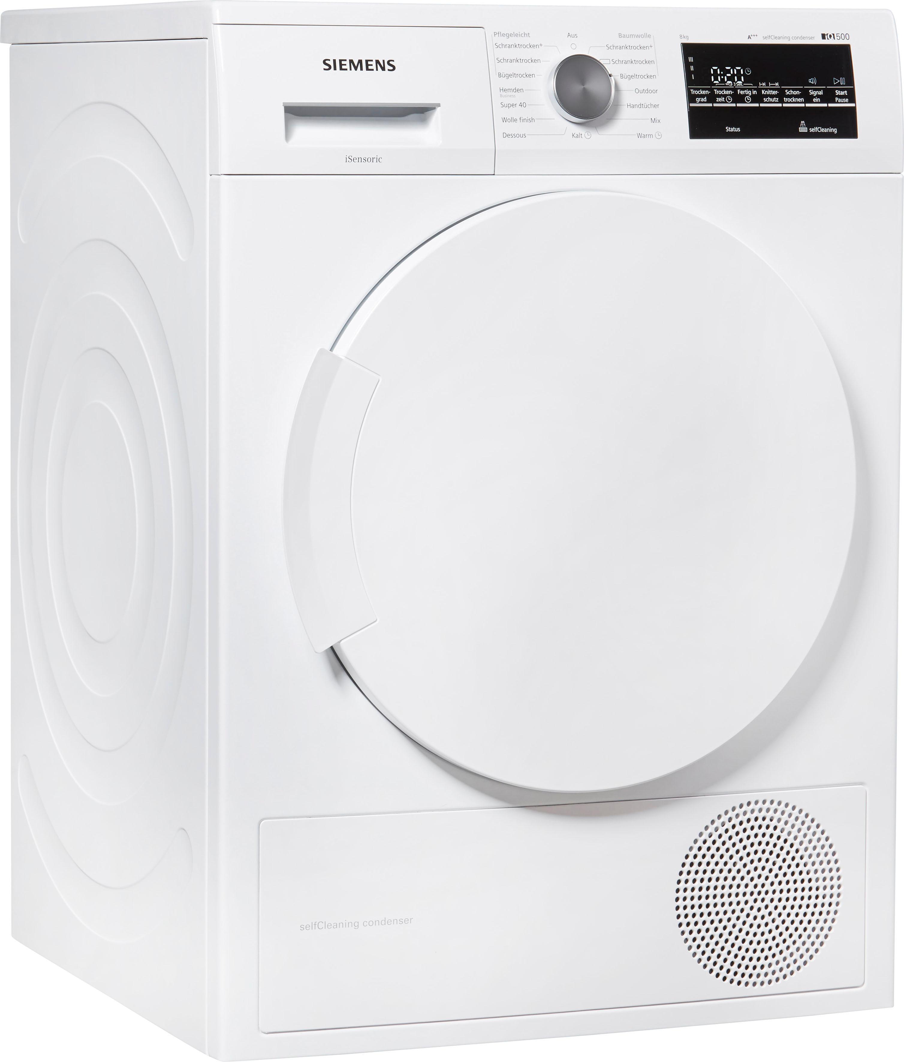 SIEMENS Wärmepumpentrockner IQ500 WT45W4ECO, 8 kg | Bad > Waschmaschinen und Trockner > Wärmepumpentrockner | Siemens