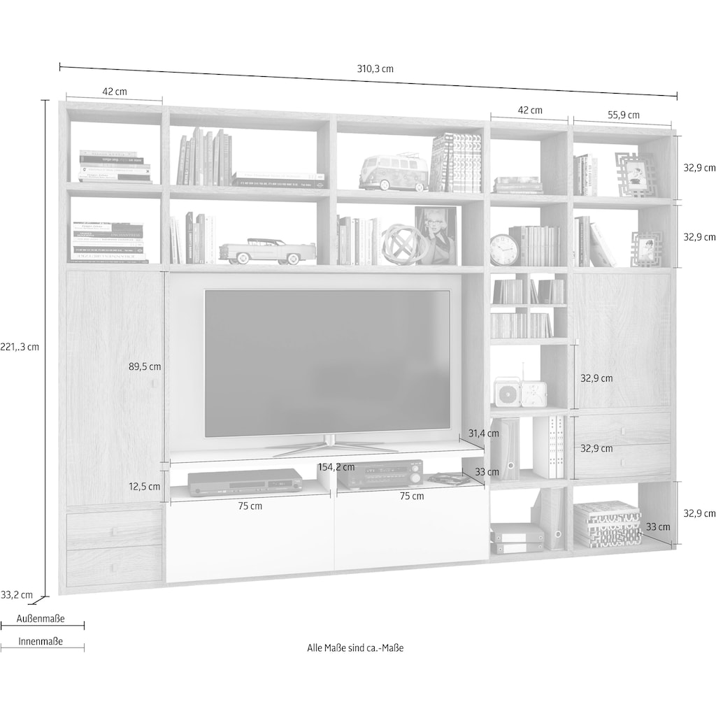 fif möbel Wohnwand »TORO 371-3«