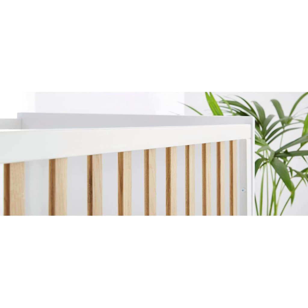 Pinolino® Babyzimmer-Komplettset »Pan«, (Set, 3 St.), extrabreit; mit Kinderbett, Schrank und Wickelkommode; Made in Europe