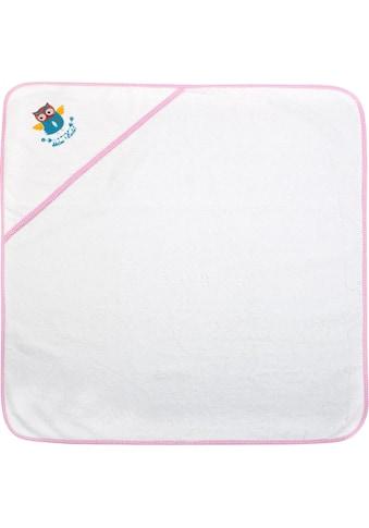 ADELHEID Kapuzenhandtuch »Kleine Eule Kapuzenhandtuch«, (1 St.), mit Paspel und Stickerei kaufen
