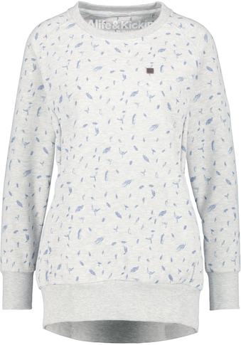 Alife & Kickin Sweatshirt »HelenAK«, sportiver Sweater mit Seitentaschen & Alloverprint kaufen
